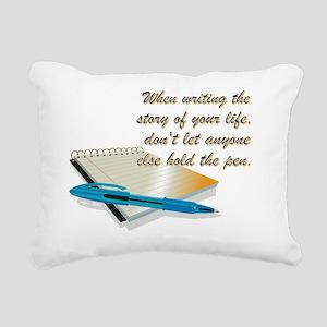 WHEN WRITING... Rectangular Canvas Pillow