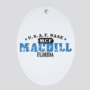 MacDill Air Force Base Oval Ornament