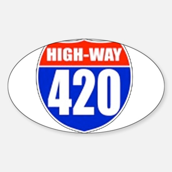 highway Oval Decal