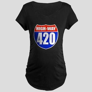 highway Maternity Dark T-Shirt