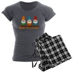 Hangin' With My Gnomies Women's Charcoal Pajamas
