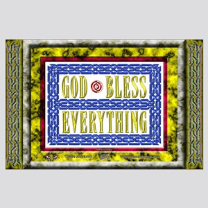 "GOD Bless - BIG Poster - 35""x23"""