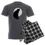 Basic Black Cat Men's Charcoal Pajamas