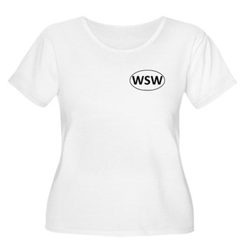 WSW Euro Oval Women's Plus Size Scoop Neck T-Shirt