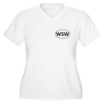 WSW Euro Oval Women's Plus Size V-Neck T-Shirt