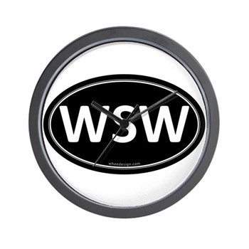 WSW Black Euro Oval Wall Clock