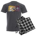 Alice & Cheshire (light) Men's Charcoal Pajamas