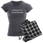 Oh Snap, It's Onomatopoeia Women's Charcoal Pajama