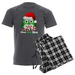 Christmas Owl Hoo Hoo Hoo Men's Charcoal Pajamas