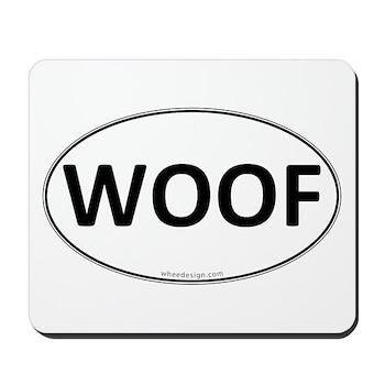 WOOF Euro Oval Mousepad