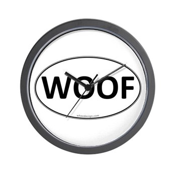 WOOF Euro Oval Wall Clock