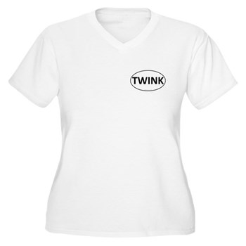 TWINK Euro Oval Women's Plus Size V-Neck T-Shirt