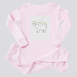 carbon neutral polar bear Baby Pajamas