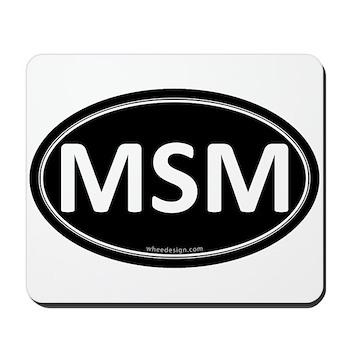 MSM Black Euro Oval Mousepad