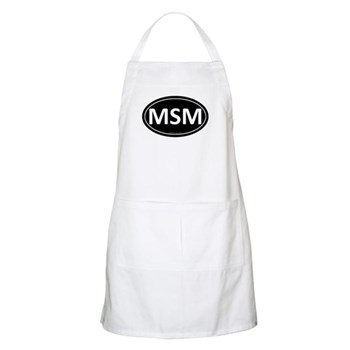 MSM Black Euro Oval BBQ Apron