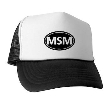 MSM Black Euro Oval Trucker Hat