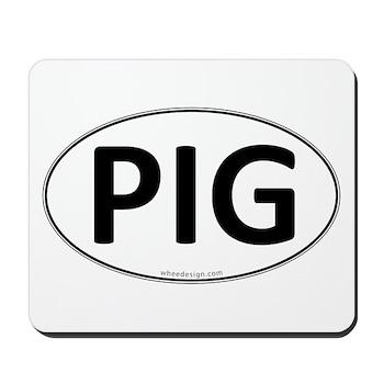 PIG Euro Oval Mousepad
