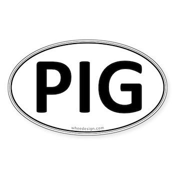 PIG Euro Oval Oval Sticker