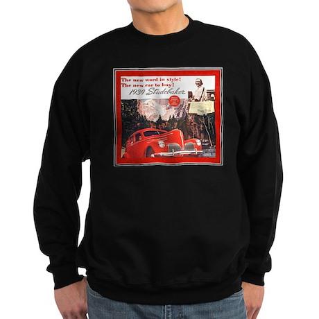 """1939 Studebaker Ad"" Sweatshirt (dark)"