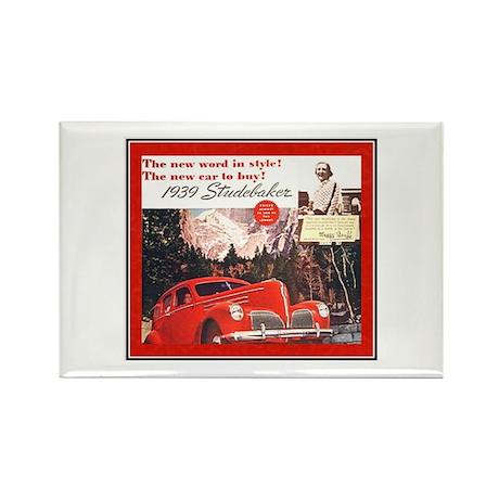 """""""1939 Studebaker Ad"""" Rectangle Magnet (10 pack)"""
