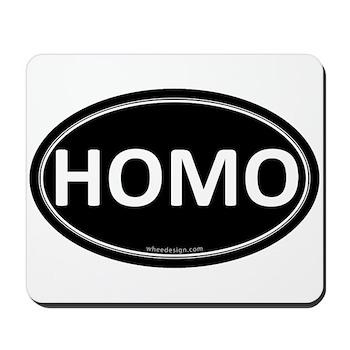 HOMO Black Euro Oval Mousepad