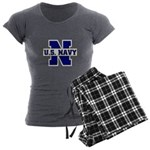 U S Navy Women's Charcoal Pajamas