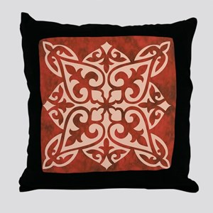 CARNELIAN TILE Throw Pillow