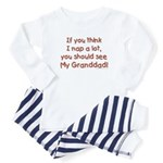 granddad naps Baby Pajamas