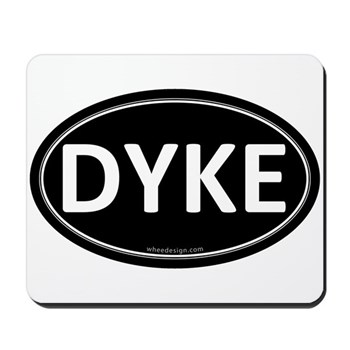 DYKE Black Euro Oval Mousepad