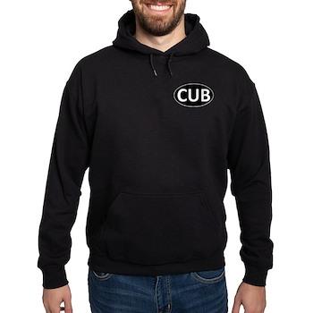 CUB Black Euro Oval Hoodie (dark)
