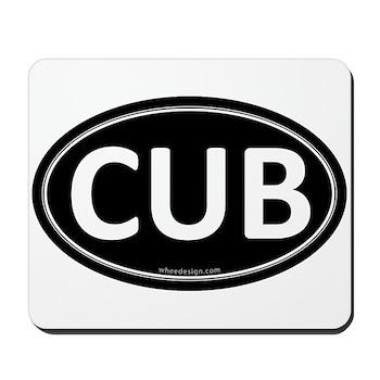 CUB Black Euro Oval Mousepad