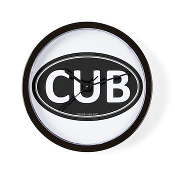 CUB Black Euro Oval Wall Clock