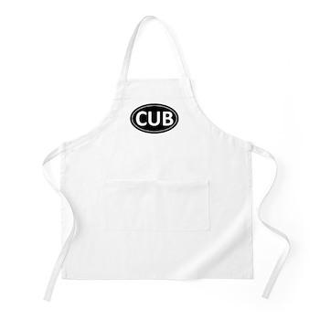 CUB Black Euro Oval BBQ Apron