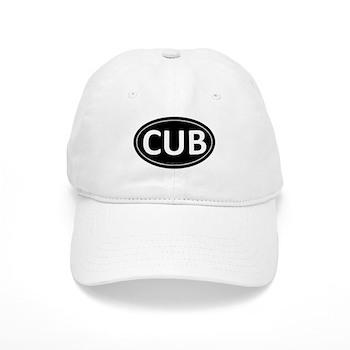 CUB Black Euro Oval Cap