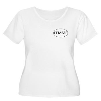 FEMME Euro Oval Women's Plus Size Scoop Neck T-Shi