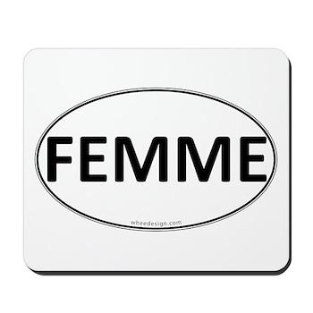 FEMME Euro Oval Mousepad