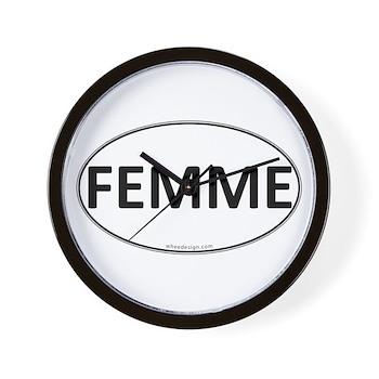 FEMME Euro Oval Wall Clock