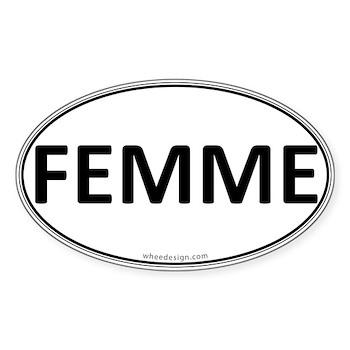 FEMME Euro Oval Oval Sticker