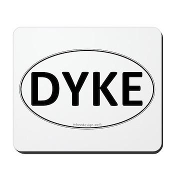 DYKE Euro Oval Mousepad