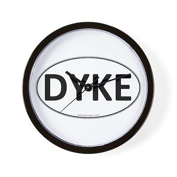 DYKE Euro Oval Wall Clock