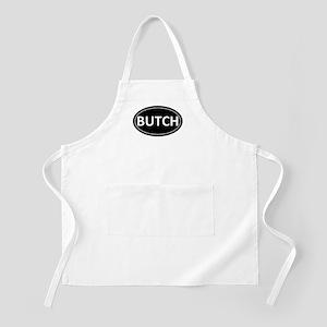 BUTCH Black Euro Oval BBQ Apron