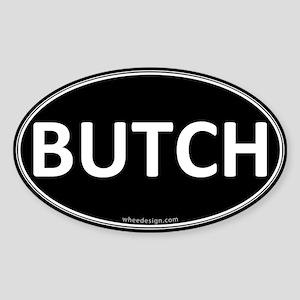 BUTCH Black Euro Oval Oval Sticker