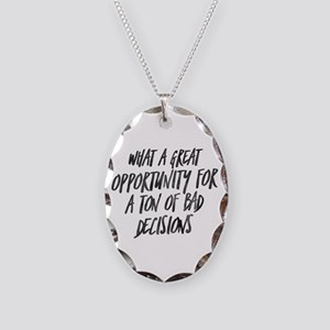 My Favorite Murder Bad Decisio Necklace Oval Charm