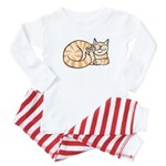 OrangeTabby ASL Kitty Baby Pajamas