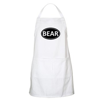 BEAR Black Euro Oval BBQ Apron