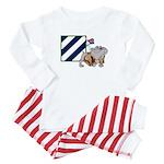 Rocky and the 3ID Baby Pajamas