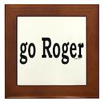 go Roger Framed Tile