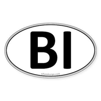 BI Euro Oval Oval Sticker (50 pk)