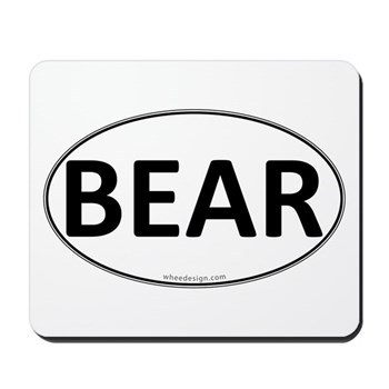 BEAR Euro Oval Mousepad