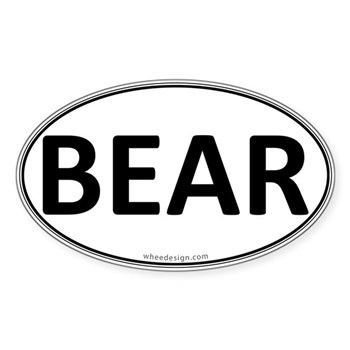 BEAR Euro Oval Oval Sticker